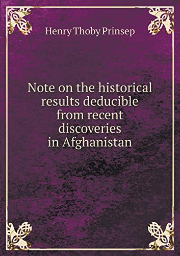 9785518901148: Note on the historical results deducible from recent discoveries in Afghanistan