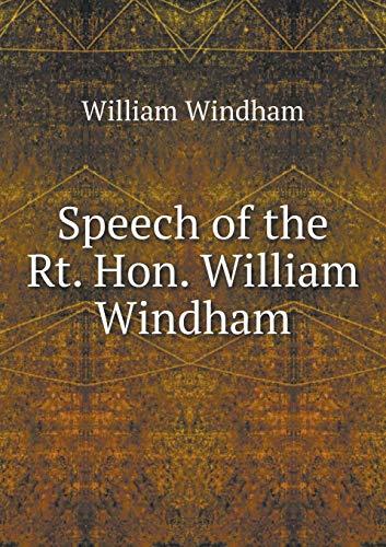 9785518915183: Speech of the Rt. Hon. William Windham