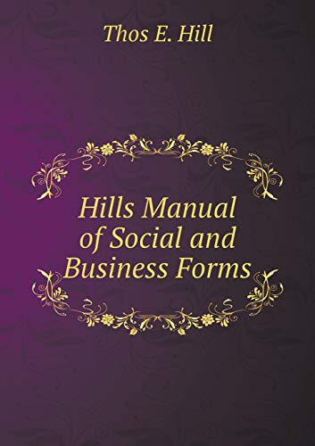9785518933583: Hills Manual of Social and Business Forms