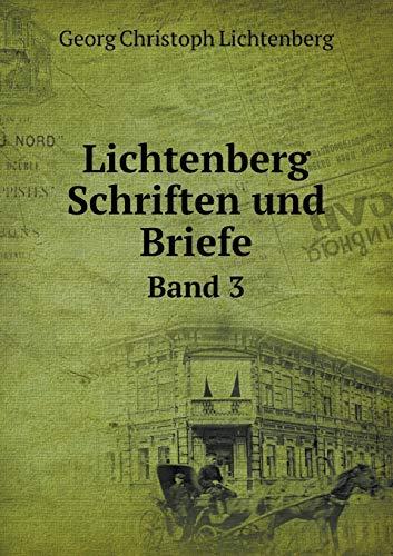 9785518951815: Lichtenberg Schriften Und Briefe Band 3