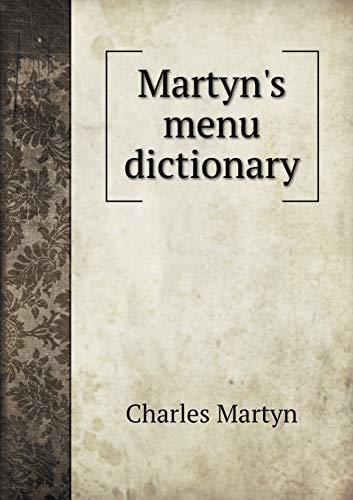 9785519008624: Martyn's menu dictionary