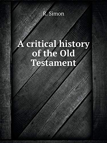 9785519052818: A critical history of the Old Testament