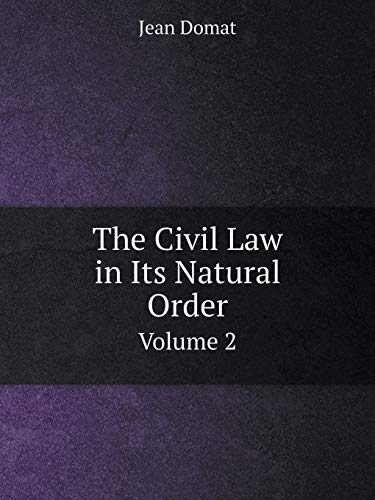 9785519072281: The Civil Law in Its Natural Order Volume 2