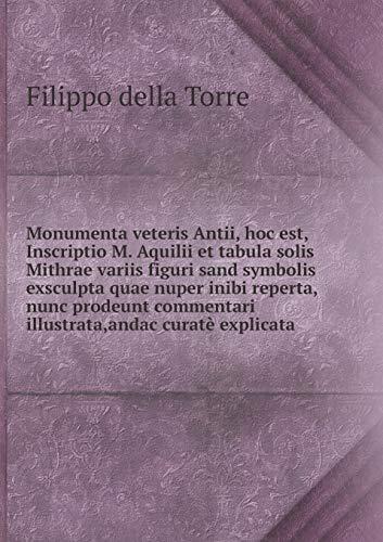Monumenta Veteris Antii, Hoc Est, Inscriptio M.: Filippo Della Torre