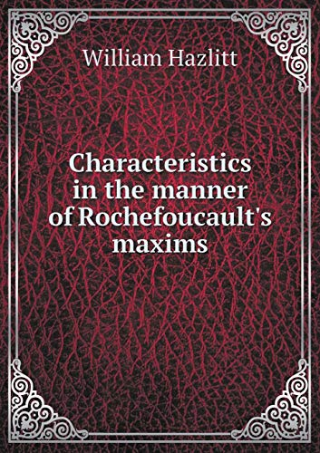 9785519181105: Characteristics in the manner of Rochefoucault's maxims
