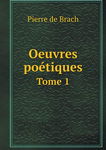 9785519225755: Oeuvres Poetiques Tome 1