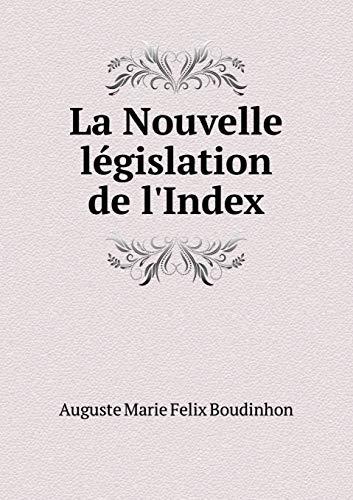 9785519279277: La Nouvelle législation de l'Index (French Edition)