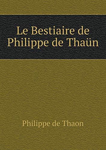 9785519283144: Le Bestiaire de Philippe de Thaün (French Edition)