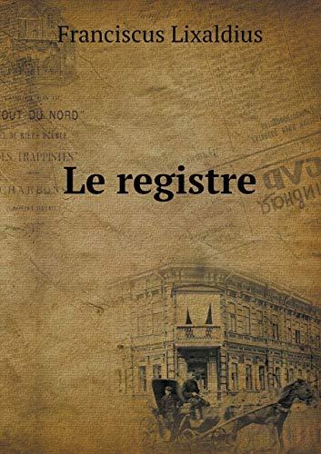 9785519296755: Le registre (Latin Edition)