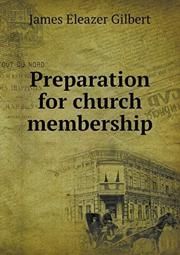 9785519308182: Preparation for church membership