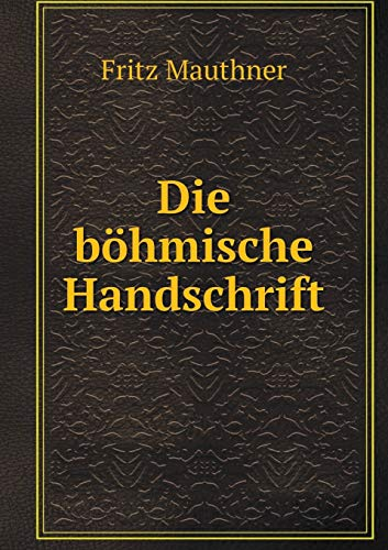 9785519333061: Die böhmische Handschrift (German Edition)