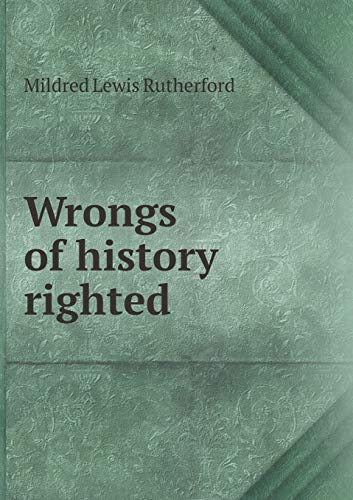 9785519336451: Wrongs of history righted