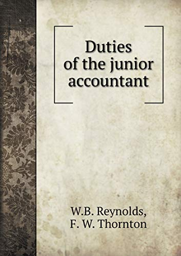 9785519373357: Duties of the junior accountant