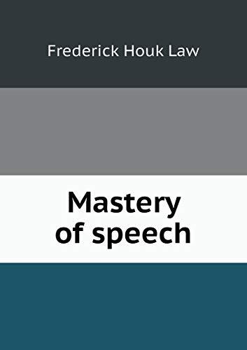 9785519459822: Mastery of speech