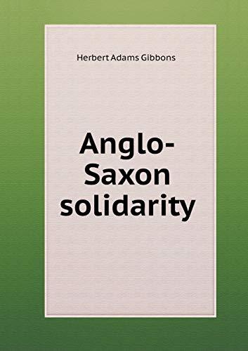 9785519474474: Anglo-Saxon solidarity