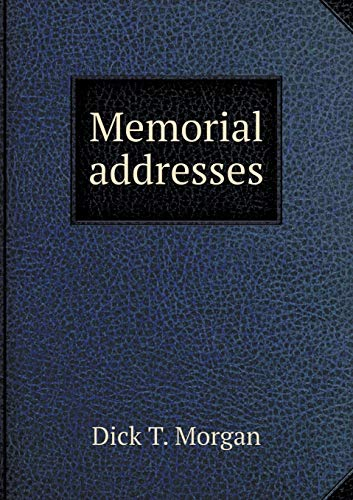 9785519480307: Memorial addresses