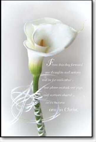 9785550175774: White Calla Lily Wedding Bulletin