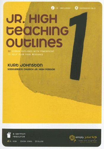 9785558084160: Jr. High Teaching Outlines: 52 Sermon Outlines with PowerPoint to Help Plan Your Messages