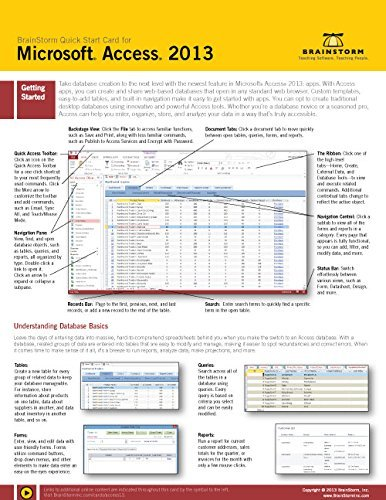 9785783035531: Microsoft Access 2013 Training & Quick Tips, Tricks & Shortcuts - 6 Page Tri-Fold