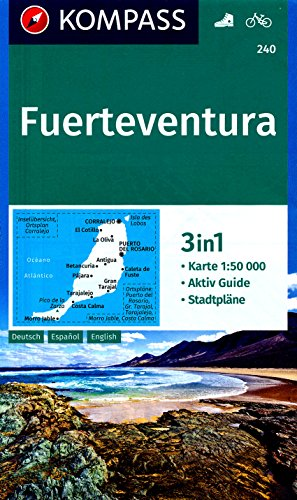 9785809713023: Fuerteventura (Canary Islands) 1:50,000 Contoured Hiking Map, GPS-precise KOMPASS