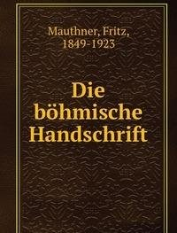 9785872481003: Die bohmische Handschrift