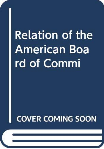 Relation of the American Board of Commi: Boris Aleksandrovich Pokrovskii
