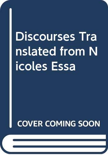 9785873621620: Discourses Translated from Nicoles Essa