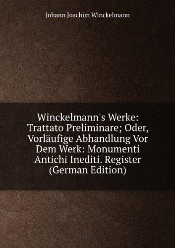 9785874194840: Winckelmanns Werke Trattato Preliminare