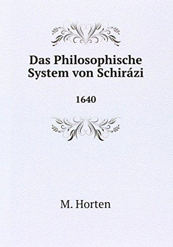 9785874317225: Das Philosophische System von Schir�zi: 1640