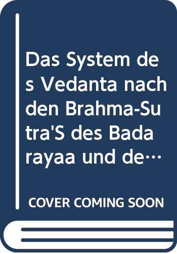 9785874416409: Das System Des Vedã¢nta Nach Den Brahma
