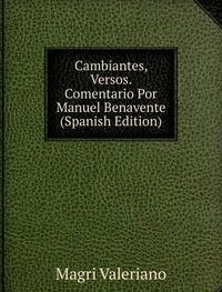 9785874532918: Cambiantes Versos. Comentario Por Manue