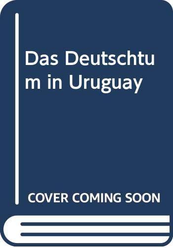 9785874533458: Das Deutschtum In Uruguay (German Edition)