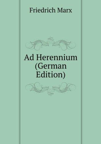 9785875275227: Ad Herennium (German Edition)