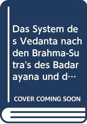9785875586576: Das System Des Vedã¢nta Nach Den Brahma