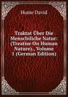 9785876437358: Traktat �ber Die Menschliche Natur: Volume 1