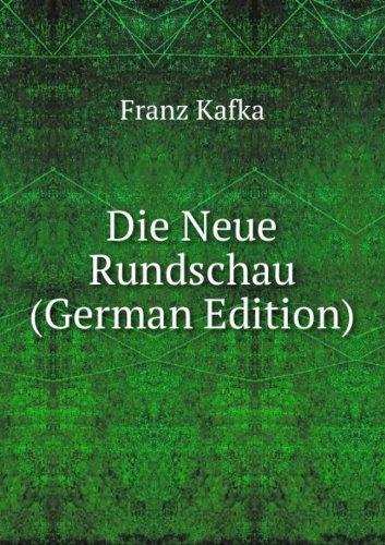 Die Neue Rundschau German Edition (5876590401) by Franz Kafka