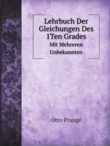 9785877544079: Lehrbuch Der Gleichungen Des 1ten Grade