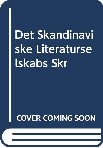 9785878051262: Det Skandinaviske Literaturselskabs Skr