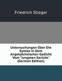 9785878131940: Untersuchungen Uber Die Syntax in Dem Angelsachsischen Gedicht Vom