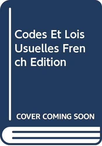 9785879528473: Codes Et Lois Usuelles French Edition