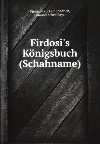 9785881083908: Firdosi S Kã¶nigsbuch Schahname