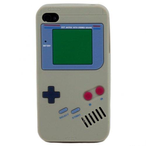 9785891044944: OBiDi - 3D Gameboy Coque en Silicone / Housse pour Apple iPhone 4S / Apple iPhone 4 - Gris avec 3 Film de Protection et Stylet