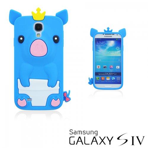 9785891047723: OBiDi - 3D Porcin Coque en Silicone / Housse pour Samsung Galaxy S4 IV I9500 / I9505 - Bleu