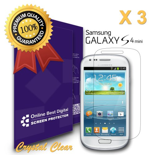 9785891053724: OnlineBestDigital - Films de protection d'�cran pour Samsung Galaxy S4 Mini, Crystal Clear / Transparent - OnlineBestDigital Emballage au D�tail (Pack of 3)
