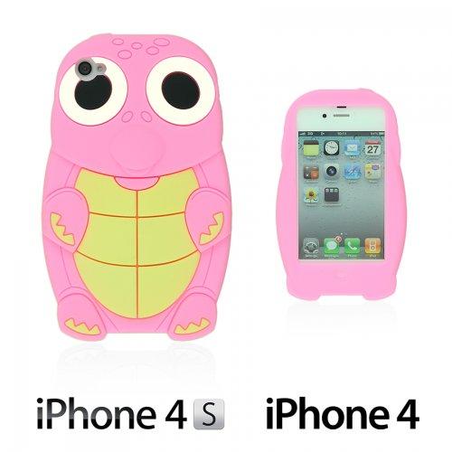 9785891057319: OBiDi - 3D Tortue Coque en Silicone / Housse pour Apple iPhone 4S / Apple iPhone 4 - rose