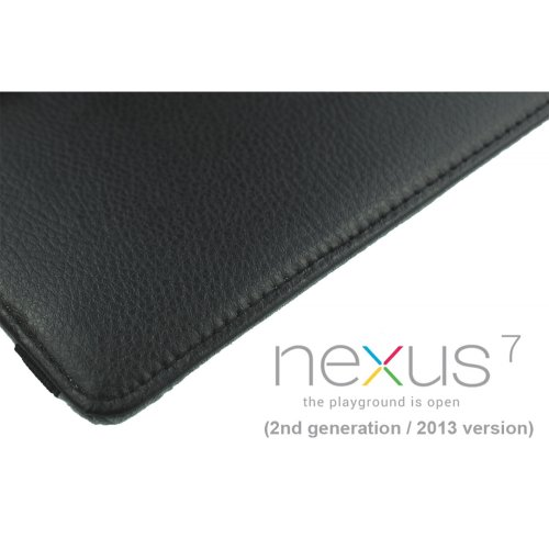 9785891058095: OBiDi - PU Leather 360 Degree Rotating Cover Case for Google Nexus 7 2013 - Noir avec 3 Film de Protection