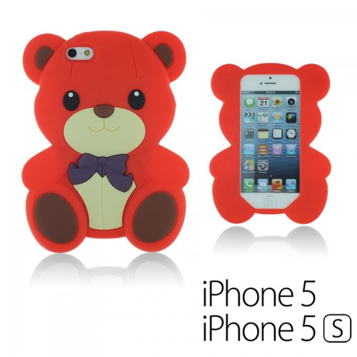 9785891059030: OnlineBestDigital - 3D Chien Coque en Silicone / Housse pour Apple iPhone 5S / Apple iPhone 5 - Rouge