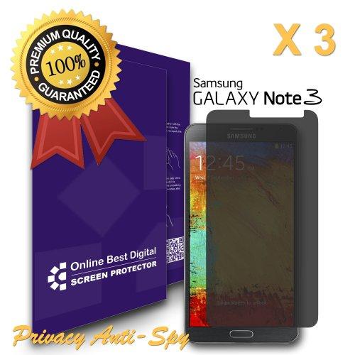 9785891069497: OBiDi - Films de protection d'écran pour Samsung Galaxy Note 3, Confidentialité / Anti-Spy - OBD Emballage au Détail (Pack de 3)
