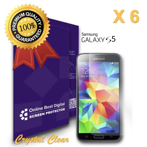 9785891074286: OBiDi - Samsung Galaxy S5 Screen Protector, Transparent / HD Clear - OBD Retail Packaging (Pack of 6)