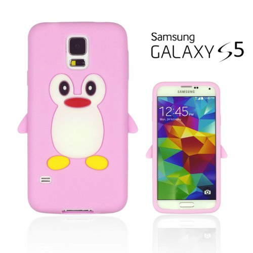 9785891079236: OBiDi - Penguin Style Soft Silicone Case for Samsung Galaxy S5 - Pink